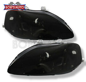For 1999 2000 Honda Civic Smoke Headlights Oe Style Headlamps Ek Si Ex Dx Lx Hx
