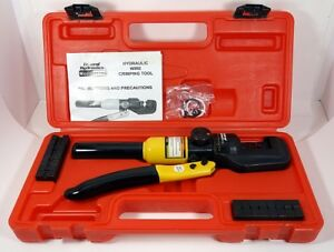 New Central Hydraulic Wire Crimping Tool 66150 With 9 Set Dies 14 Awg To 0 Awg