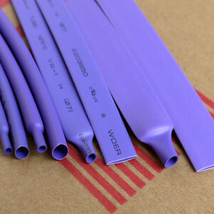 Purple 2 1 Heat Shrink Tubing Wire Cable Sleeving Wrap Electrical Connection