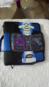 Case It the Dual 2 0 2 In 1 Dual Ring Blue Binder 4 Capacity Brand New