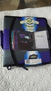 case It the Dual 2 0 2 In 1 Dual Ring Purple Gray Binder 4 Capacity New