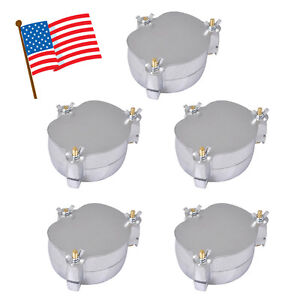5x Dental Dentist Aluminium Denture Flask Press Compressor Parts Lab Equipment A
