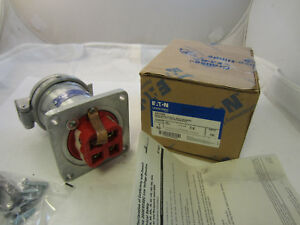 Crouse Hinds Ar1042 100 Amp 3w 4p Receptacle New In Box Mates With Apj10487