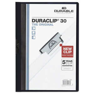 Durable Vinyl Duraclip Report Cover W clip Letter Holds 30 Pages Clear navy