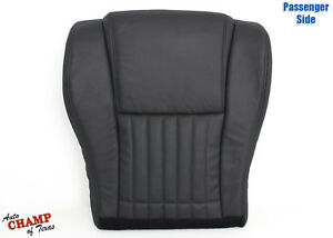 00 02 Pontiac Firebird Trans Am passenger Side Bottom Leather Seat Cover Black