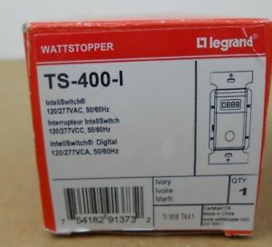 1 Nib Watt Stopper Ts 400 i Ts400i Digital Time Switch 100 277 Vac Ivory