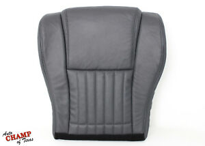 1996 Pontiac Firebird Trans Am Driver Side Bottom Leather Seat Cover Dark Gray
