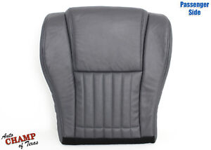 1996 Pontiac Firebird Trans Am Passenger Side Bottom Leather Seat Cover Dk Gray