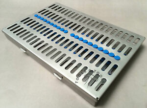 Dental Sterilization Cassette Rack Tray Box For 20 Surgical Instruments