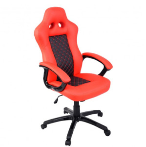 New Executive High Back Swivel Office Race Car Bucket Seat Style Leather Chair