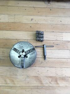 South Bend Atlas Union 4in 3 Jaw Chuck U 2148 Both Sets Of Jaws 1 1 2 x 8tpi