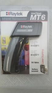 Raytek Mt6 Infrared Mini Temp Laser Thermometer Ir Gun 30 To 500 Mt6cu New