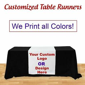 Custom Table Runner For Trade Show Exhibition Table Cover Not Included 3 x 5 67