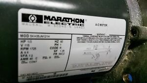 Pre owned Marathon Electric 5kh33gna444ax A c Motor 1 3hp 1725 1425rpm H683