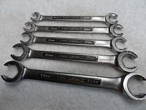 Craftsman Metric Mm Nos Flare Nut Wrench Set Made In Usa 5 Pcs