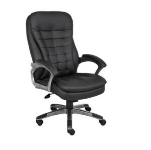 Office Chair Furniture Padded Arm Rests Home High back Executive Chair Black