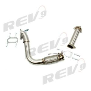 Rev9 2 5 Stainless Steel Turbo Downpipe Header Bell Mouth Acura Tsx 09 14 I4