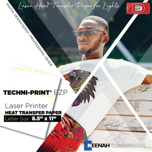 100 Sheets Laser Heat Transfer Paper 8 5 X 11 Techni Print Ezp