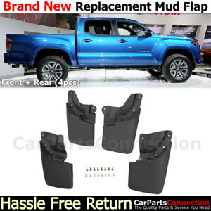 Front Rear Lh Rh Mud Flaps Splash Guards For Toyota Tacoma 16 18 Complete Set