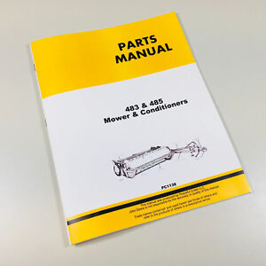 Parts Manual For John Deere 483 485 Mower Conditioner Catalog Assembly Schematic