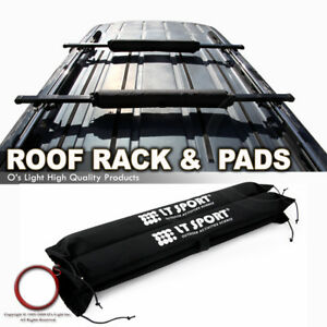 Fit Jeep Roof Rail Rack Top Carrier 48 Cargo Square Crossbar Pad Combo