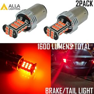 Alla Lighting 30 Led 1157 Brake Stop Tail Light Bulb Lamp Bright Red Replacement