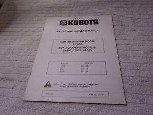 Kubota Tractor Parts And Owner s Manual Earthcavator Box Scrapers 70000 70033