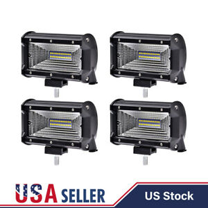 4x 7 inch 480w Cree Led Work Light Bar Flood Combo Fog Driving Offroad Car Truck