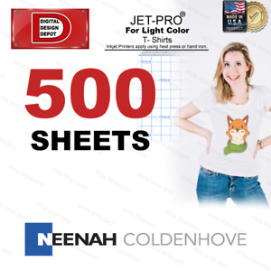 Jet pro Sofstretch Inkjet Heat Transfer Paper 8 5x11 500 Iron On Heat Press