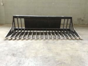 Rock Bucket Skid Steer Attachment