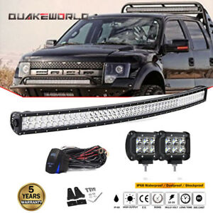 For Can am Commander Maverick X3 Ds Rs Max Curved 50 Led Light Bar 2x Fog Pods