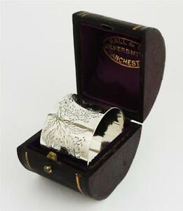 Boxed Victorian Sterling Silver Napkin Ring London 1881