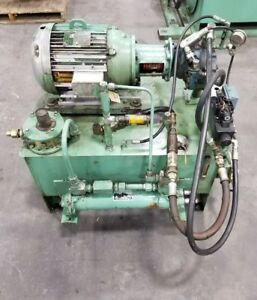 Racine 50 Gallon Hydraulic Power Unit 15 Hp 3 Ph With Heat Exchanger 0001sr