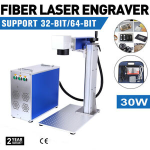 30w Fiber Laser Marking Machine Metal Engraver Engraving Marker Air Cooling