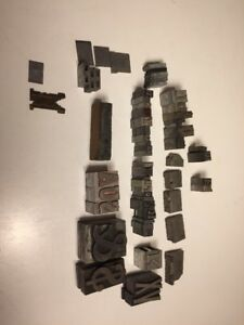 Mixed Lot Letterpress Letter Metal Type Printers Block Collection Ships Fast