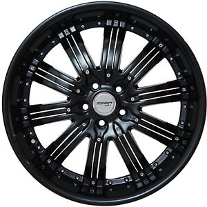 4 Wheels 20 Inch Black Narsis Rims Fits Mitsubishi Lancer Evolution 2008 2015