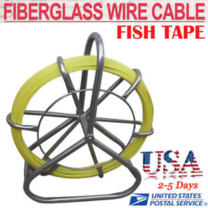 Us Poratble Fish Tape Fiberglass Wire Cable Rod Duct Rodder Fishtape Puller 6mm