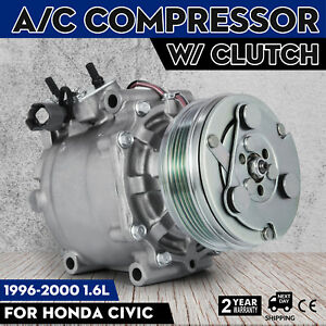 Set Ac Compressor 3057 38810p06a06 For 94 00 Honda Civic 97 01 Cr V 1 6l Great