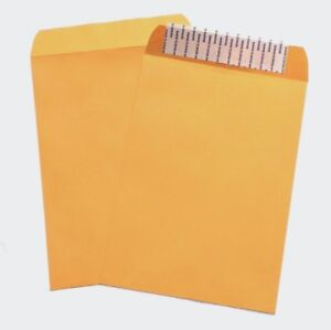 9 X 12 Oe Sub 28 Brown Kraft Envelopes Peel And Seal Black Ink 1 Side Printing