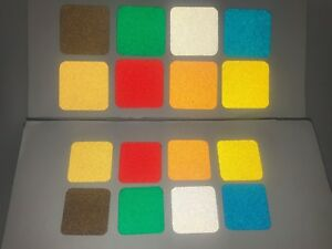 50 Ultra Reflective Vinyl Squares 8 Colors 3 Sizes Engineer Grade