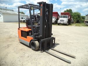 Toyota 5fbe15 3 000 3000 Cushion Tired 3 Wheeled 36v Electric Forklift