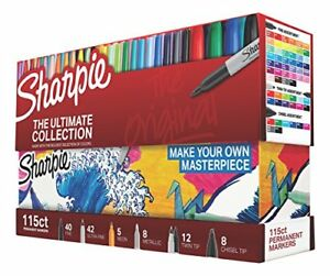 115ct Set Sharpie Permanent Markers Ultimate Collection Assorted Tips