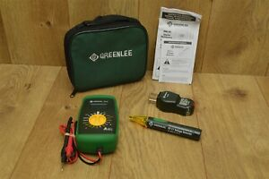 Greenlee Dm 20 Digital Multimeter gt 10 Outlet Tester gt 11 Voltage Detector
