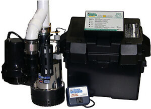 Glentronics Bw4000 Battery backup Sump Pump System 5 hp Motor