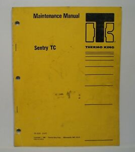 Thermo King Maintenance Manual Sentry Tc Di 2 2 Engine Diesel Cycle sentry 2