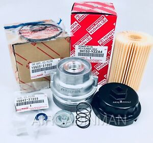 Genuine Toyota Lexus Oil Filter And Housing With Wrench Plug Gasket 04152yzza4