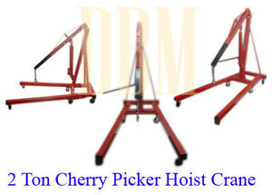 2 Ton 4 000 Lbs Cherry Picker Engine Hoist Lift Shop Crane Free Shipping