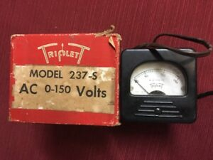 Triplet 237 s Ac 0 150 Volt Meter With Original Box D46