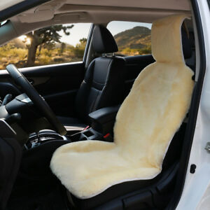 Genuine Australian Sheepskin Sideless Seat Covers Champagne Car Seat Protector