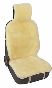 Australia Genuine Sheepskin Seat Cover Champagne Car Seat Cushion For Front Seat
